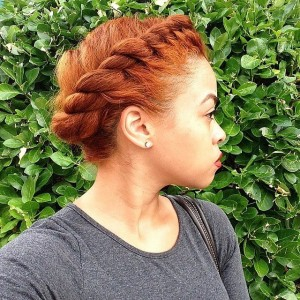 natural hair crown braid