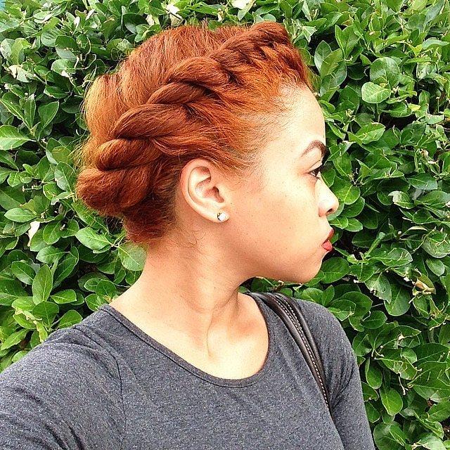 Natural Hair Crown Braid Toppik Blog