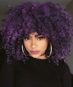 african american purple color hairstyle black hair