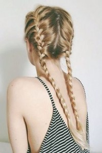 two dutch braid hairstyle