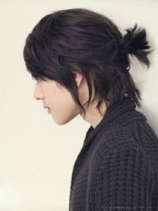 asian mens ponytail