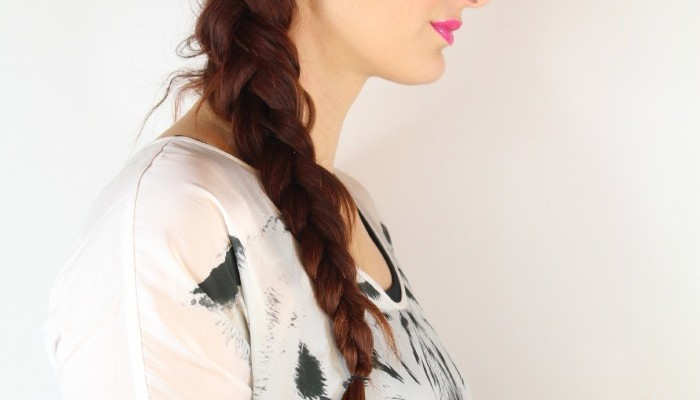 woman low side braid easy travel hairstyle