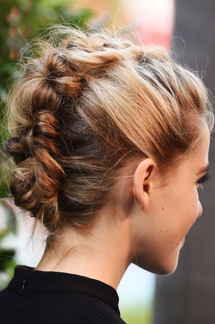 brading hair style the evolution of braids amp this year s hairstyles 9157 | go for a different look and try a braided up do braided updo braided hair dutch braid updo hairstyle hair style hair knot braided mohawk