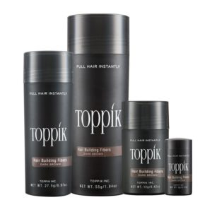 Toppik hair building fibers hide damage caused by everyday hairstyles