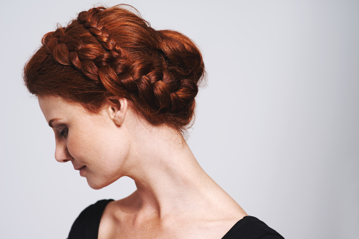 wedding hairstyles for thin hair - braided headband