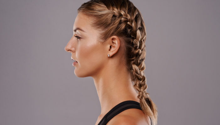 French-braids-blonde-hair-side-easy-travel-hairstyles