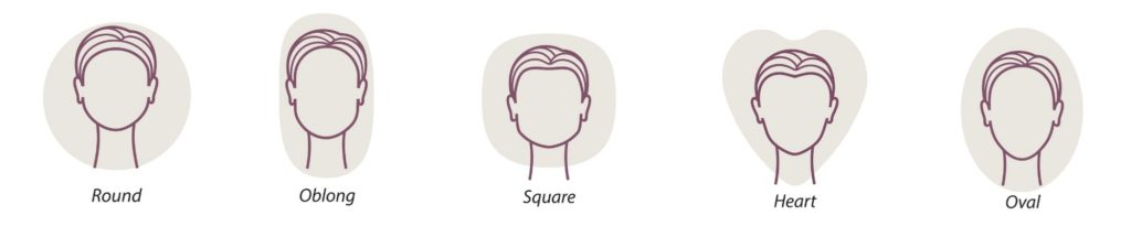 face shapes illustration best hairstyles face shape toppik blog