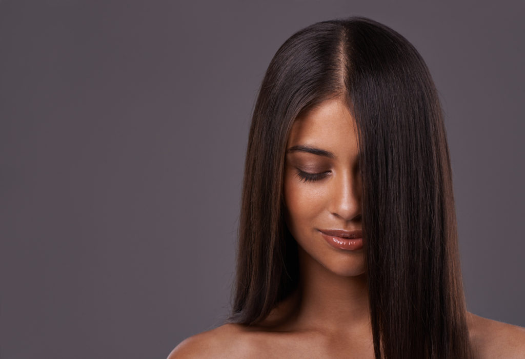 sleek long thick hair part woman weight loss and hair loss toppik hair blog