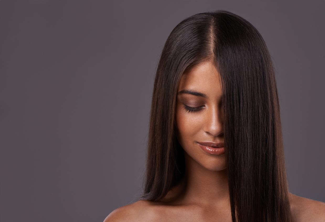 Sleek Long Thick Hair Part Woman Weight Loss Hair Loss Toppik Hair