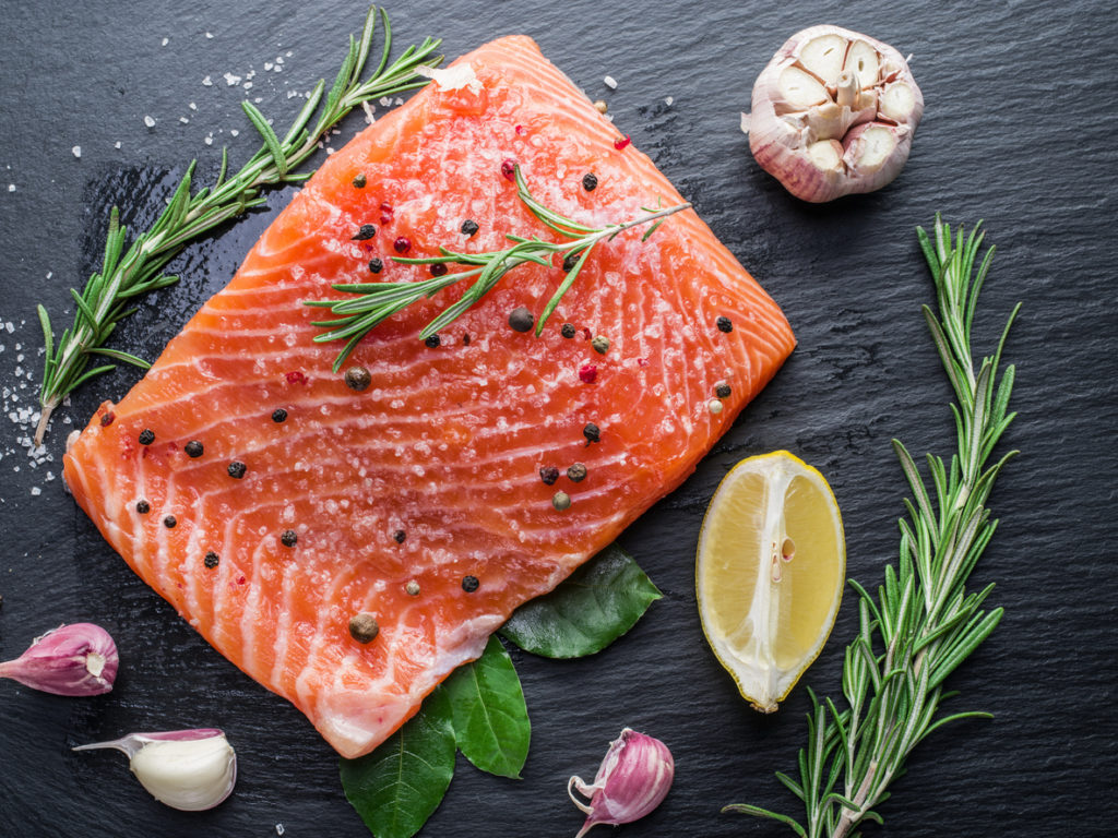 salmon protein healthy eating causes gray hair toppik blog post
