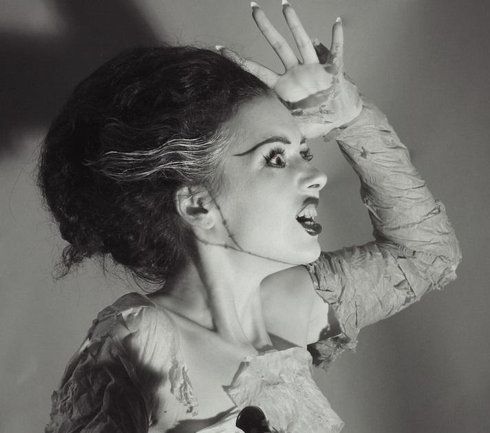spooky black white costume bride frankenstein halloween hairstyles toppik hair blog