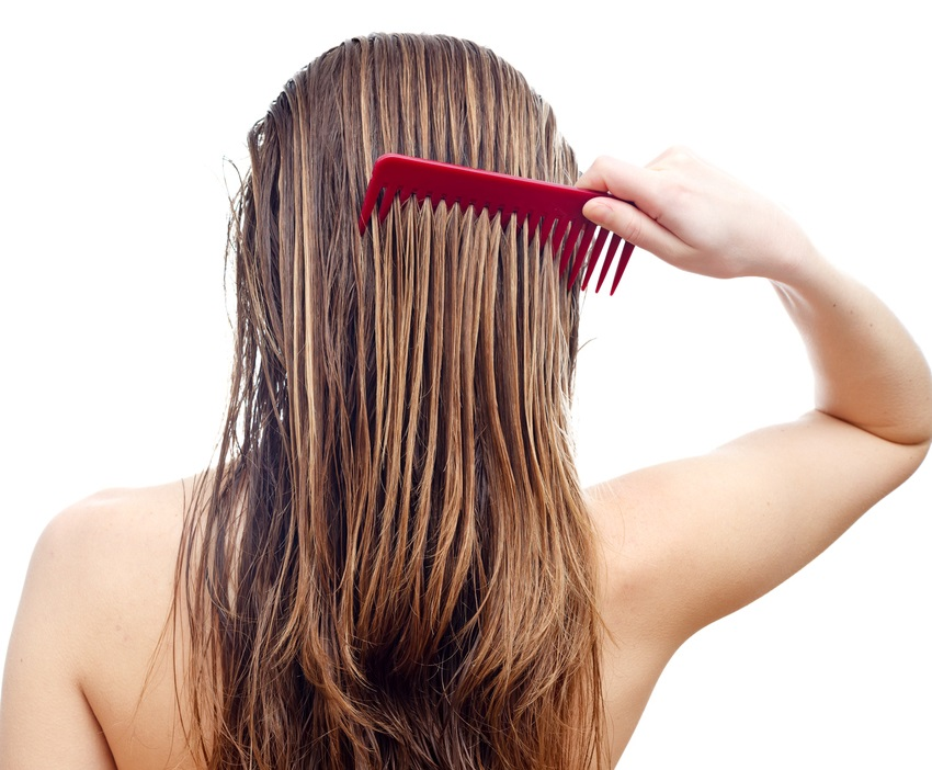 combing long wet hair back woman best hair styling tools for thin hair toppik hair blog