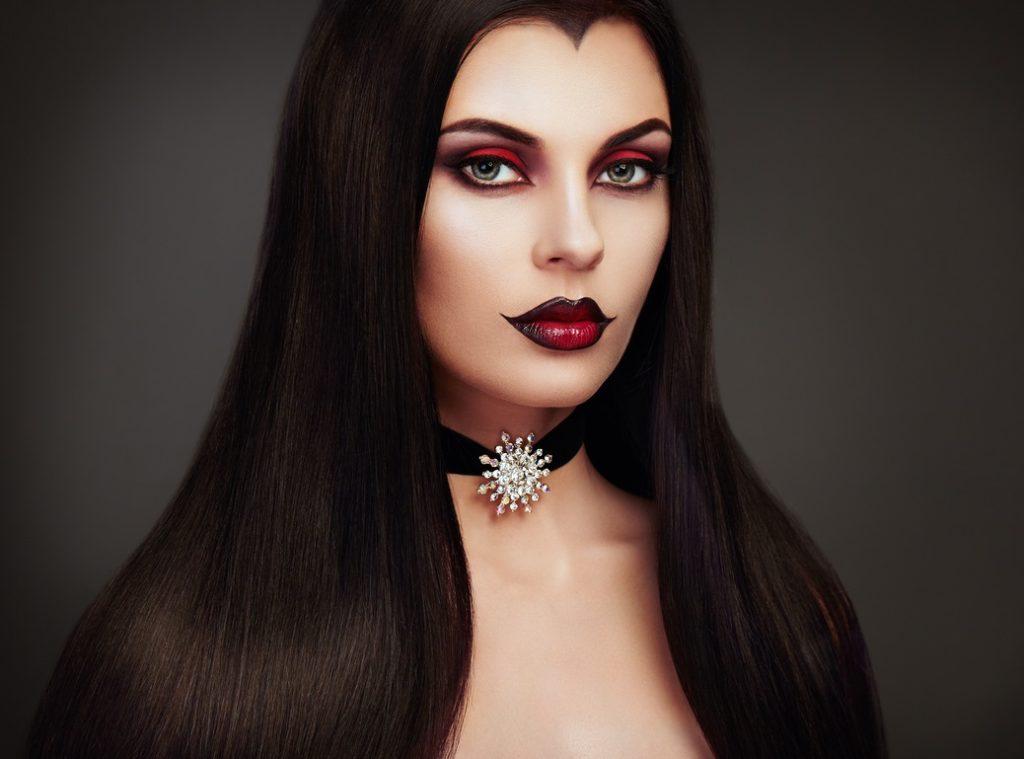 widows peak vampire costume dark long hair halloween hairstyles toppik hair blog