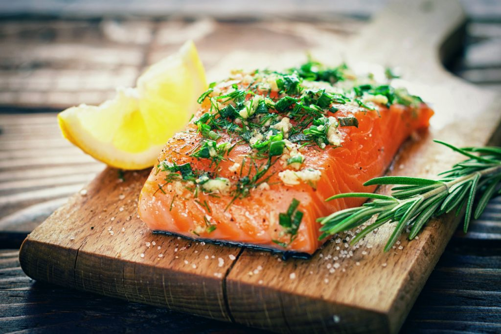 salmon fillet lemon herbs importance of protein for hair growth toppik hair blog
