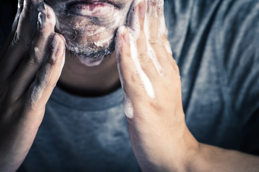 washing beard shampoo closeup perfecting beard care routine mens grooming toppik hair blog