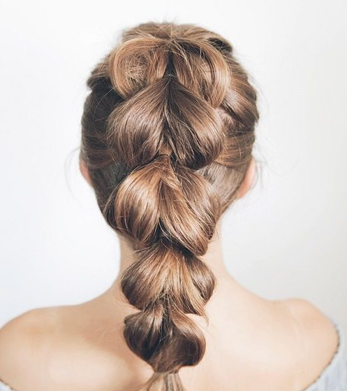 pull through faux braid hairstyle our favorite braided hairstyles for short hair toppik hair blog