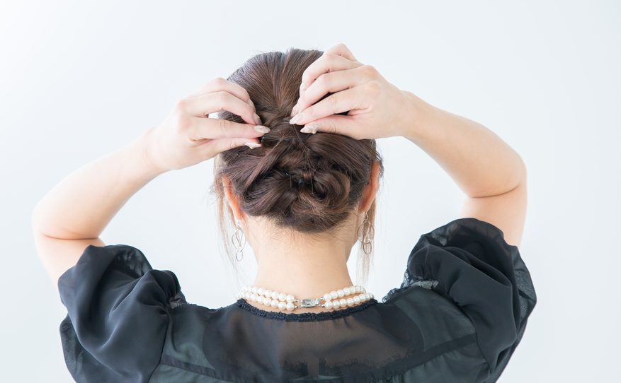 french braid tuck under updo brown hair our favorite braided hairstyles for short hair toppik hair blog