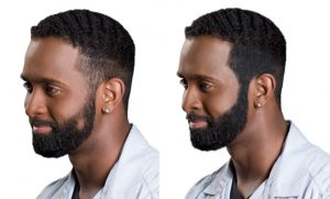 real results Toppik Fibers user Michael before and after photos african american man beard how to get a thicker beard toppik hair blog