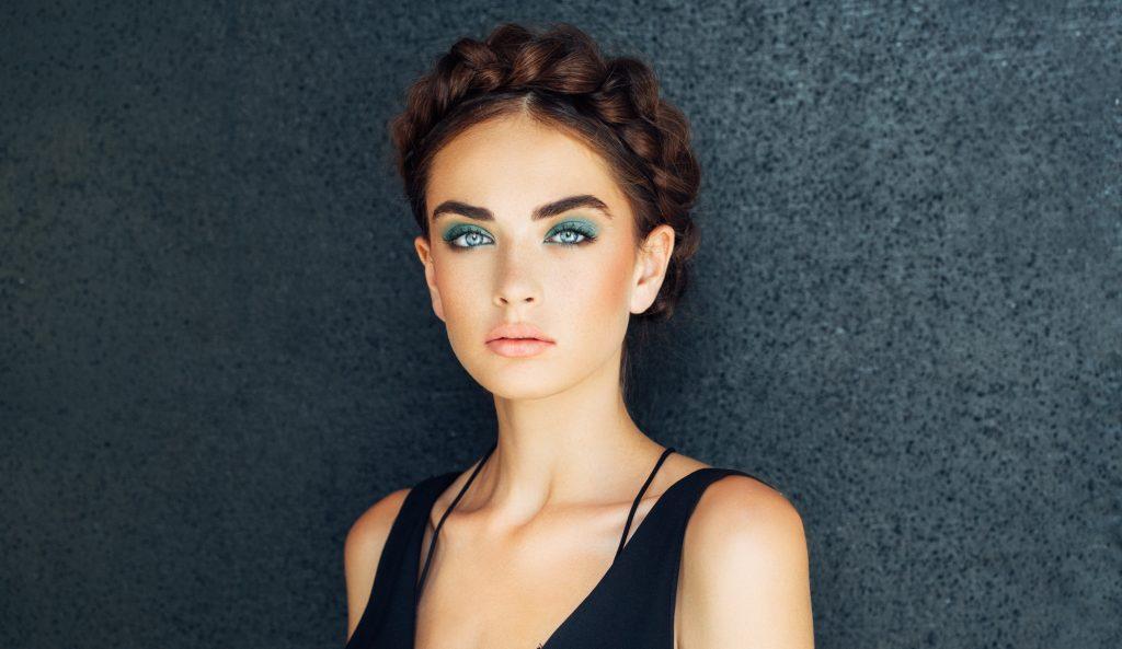 woman glamorous makeup brown hair milkmaid braids do braids help hair growth toppik hair blog