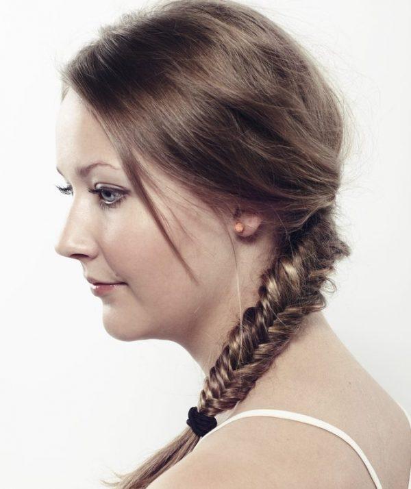 side braid woman white background shoulder length hair styles for fine hair toppik hair blog