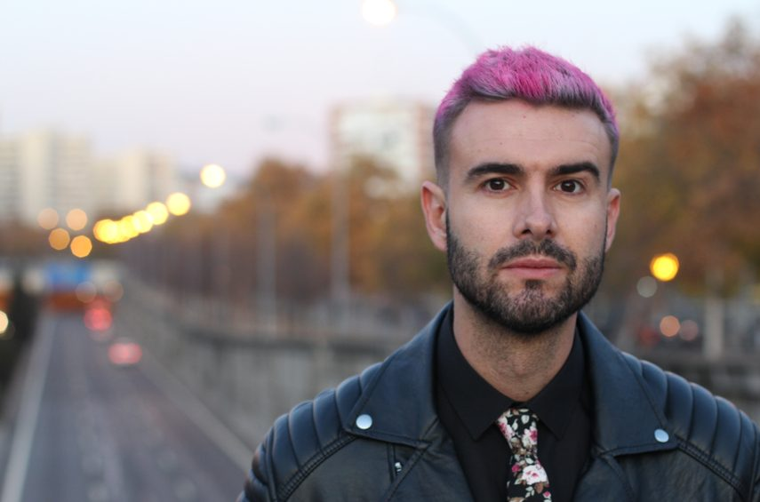 pink crop hairstyle man outside city road black leather jacket beard 2020 hair trends for men and past styles toppik hair blog