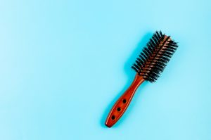 wooden hairbrush with natural boar bristles Toppik blog