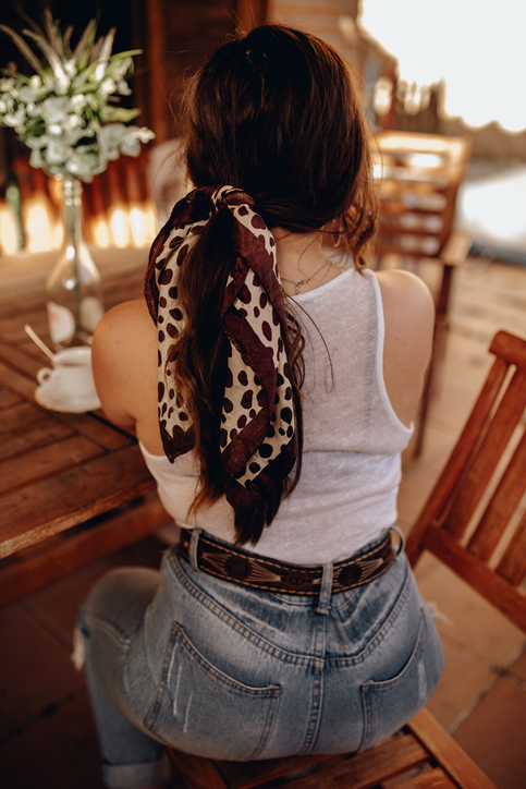 Bandana Hairstyle for Long Hair: Bandana Ponytail