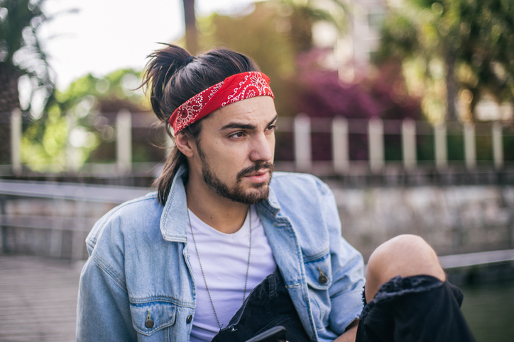 Bandana hairstyles for guys with long hair