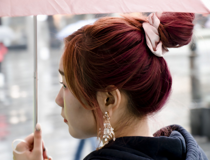 Easy Updos for Thin Hair: Bun with Scrunchie